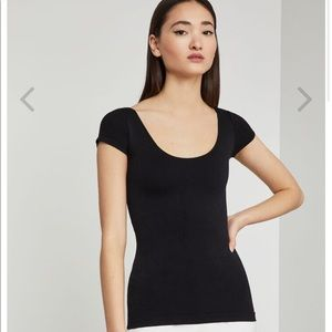 BCBG fitted black top